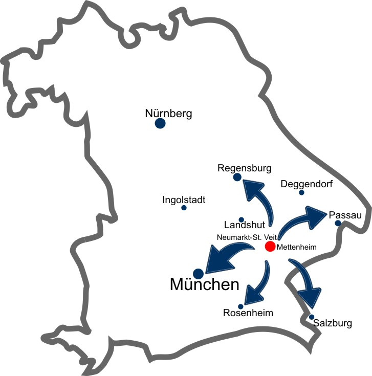 IT COM LANGER | Karte Bayern | Zentral gelegen