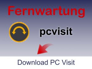 Button PCVISIT | Fernwartung | Support | IT-Dienstleiter